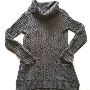 Gray Cable Knit Sweater Dress 6